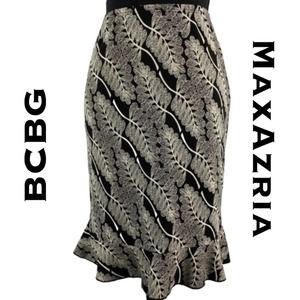 BCBGMaxAzria Flared Pencil Skirt Size XXS
